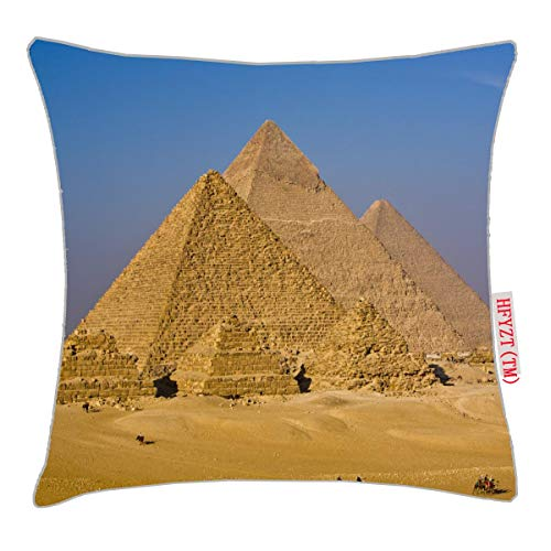 HFYZT The Great Pyramids of Giza, Egypt Pillow Cover Standard Throw Pillowcase 18X18 Inch (Pyramid Pillow)
