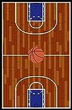 Furnish my Place 690 Rust Basketball Ground Kids