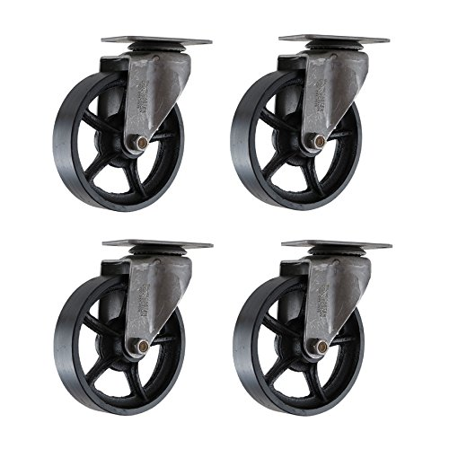 4 inch cast iron casters - 3