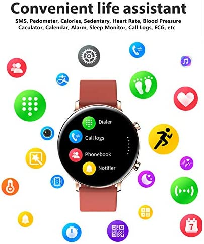 Smart Watch for Women Men with Call Function, Information Reminder Heart Rate Blood Pressure, Waterproof Bluetooth Pedometer with Sleep Monitor, Fitness Tracker Smartwatch for Android iOS Phones 51n6W 2BuntoL
