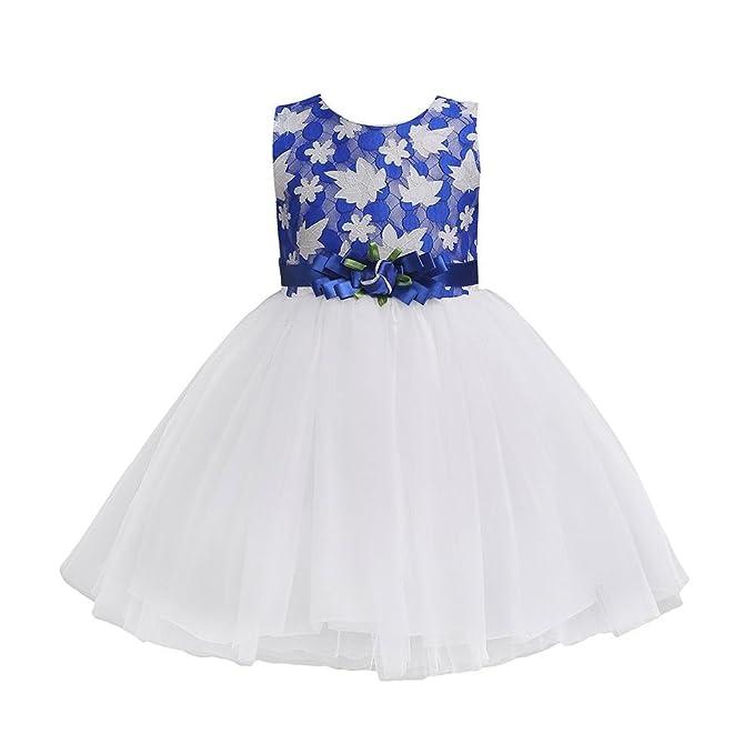 NINGSANJIN Maedchen Prinzessin Kleid Hochzeits Festzug Kleid ...