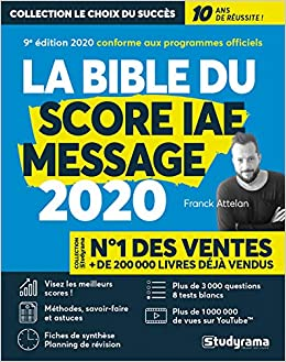 Amazon Fr La Bible Du Score Iae Message 10e Edition 2020