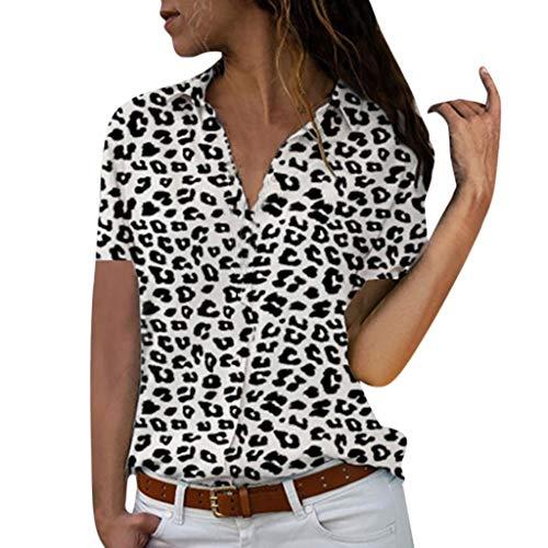 Button Down Shirts, Toimoth Womens Casual Short/Long Sleeve V Neck Pockets T Shirts Tops Blouse(Black3,XXXL)