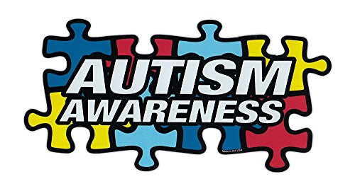 Magnetic Bumper Sticker - Autism Awareness (Puzzle Pieces, Autistic) - Puzzle Piece Shaped Support Magnet - 7
