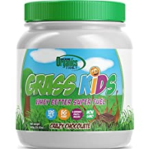 3 Servings Fruits/Veggies,Non-GMO, Grass-Fed Whey, Kids Nutritional Protein Shake, GRASS KIDS - 29.63 oz, 15 Servings (Crazy Chocolate)