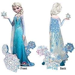 "Frozen's Elsa The Snow Queen Airwalker Birthday Balloons Decoration - 57"" Inches"