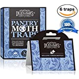 Premium Pantry Moth Traps (6 Blue Traps) With Pheromone Attractant | 100% Safe, Non-Toxic and Insecticide Free! | by Dr. Killigan's