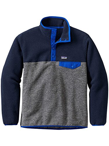 tweight Synchilla Snap-T Pullover (Small, Nickel) (Patagonia Kids Fleece)