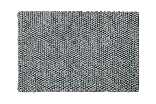 GD Hause Wolle Eternity Wollteppich, Grau, 80 x 150 cm