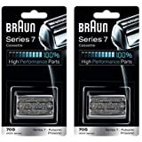 BRAUN 70S 9000 Series 7 Pulsonic Prosonic Shaver Foil & Cutter Head Replacement Cassette Cartridge, 2 Pack