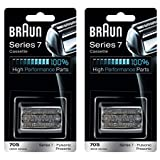 Braun Series 7 790cc4 - BRAUN 70S 9000 Series 7 Pulsonic Prosonic Shaver Foil & Cutter Head Replacement Cassette Cartridge, 2 Pack