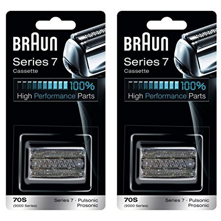 BRAUN 70S 9000 Series 7 Pulsonic Prosonic Shaver Foil & Cutter Head Replacement Cassette Cartridge, 2 Pack by Braun
