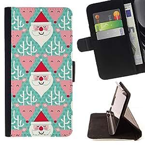 Momo Phone Case / Flip Funda de Cuero Case Cover - Père Noël vert - Sony Xperia M5