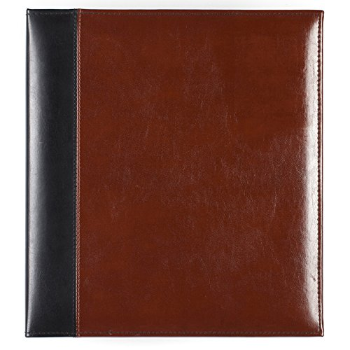 - Pinnacle Frames & Accents Two Tone Leather Photo Album, Brown and Black