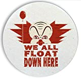 Ceramic Stone Coaster Coasters Set of Four - We All Float Down Here Miniseries Book Movie Parody