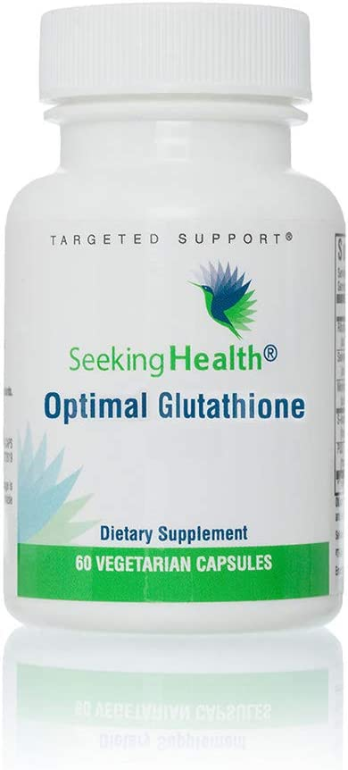 Seeking Health   Optimal Glutathione Capsules   Vegan Supplement   Antioxidant Supplement   100 mg of Glutathione as S-Acetyl per Capsule   60 Servings