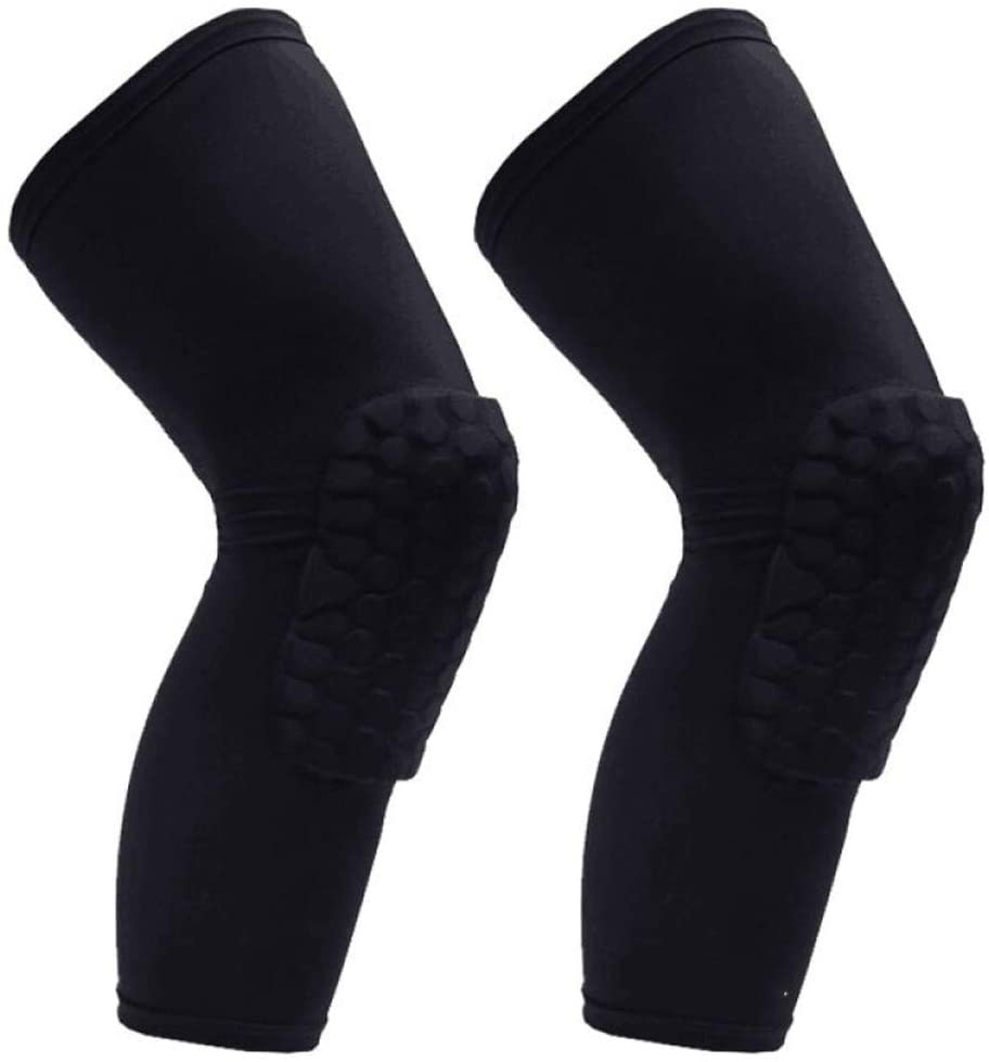 Knee Pad Basketball Leg Protector Knee High Crashproof Antislip Honeycomb Sleeve