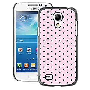 A-type Arte & diseño plástico duro Fundas Cover Cubre Hard Case Cover para Samsung Galaxy S4 Mini i9190 (NOT S4) (Polka Dot Pattern Pink Black Band Aid)