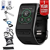 Garmin (010-01605-04) vivoactive HR GPS Smartwatch, X-Large Fit - Black w/ Fitness Bundle Includes, 7 Pieces Fitness Kit + 1 Year Extended Warranty