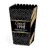 Big Dot of Happiness Personalized Reunited - Custom School Class Reunion Party Favor Popcorn Treat Boxes - Custom Class Of Text - Set of 12