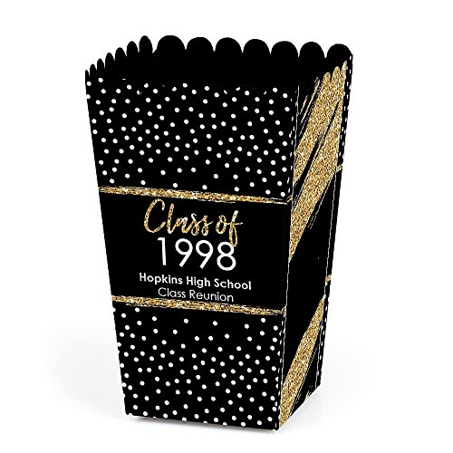 Personalized Reunited - Custom School Class Reunion Party Favor Popcorn Treat Boxes - Custom Class of Text - Set of 12 -
