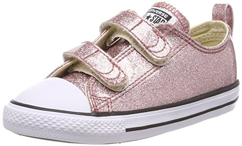 (Converse Chuck Taylor All Star 2V Ox Little Kid's Shoes Rose Gold/White 760062c (9 M US))