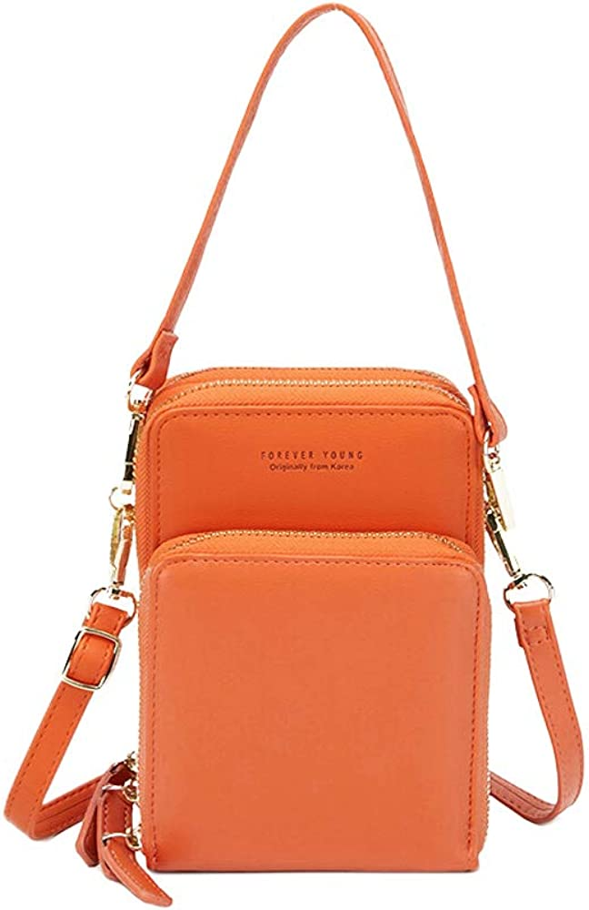 WITERY Women Small Crossbody Cell Phone Purse, Mini Messenger Shoulder Handbag Cellphone Wallet Purse with Credit Card Slots