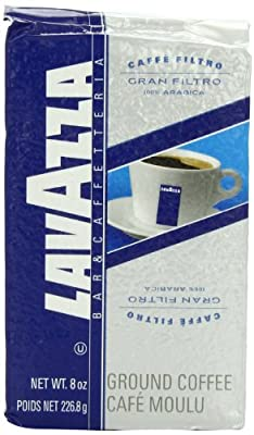 Lavazza Gran Filtro - Ground Coffee, 8-Ounce (Pack of 5)