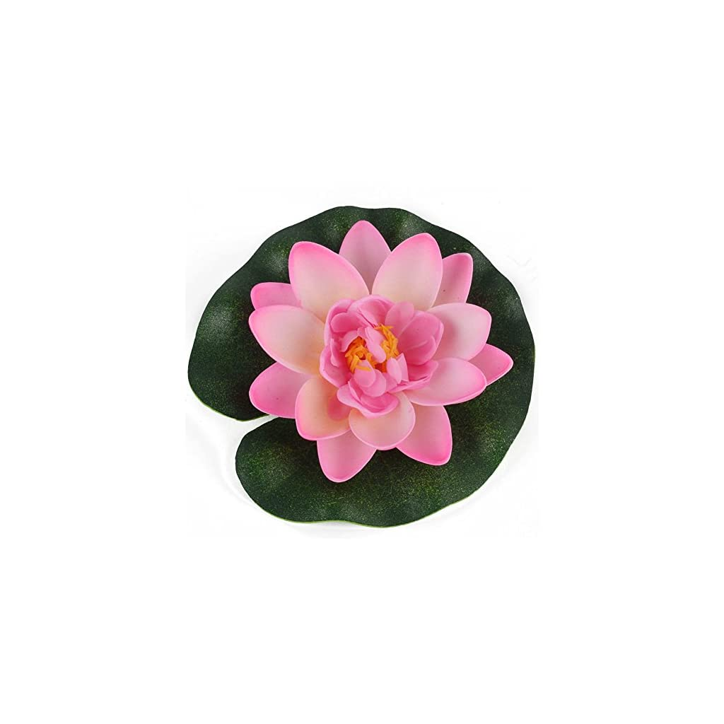 Aland-Artificial-Water-Lily-Floating-Flower-Lotus-Home-Yard-Pond-Fish-Tank-Decor