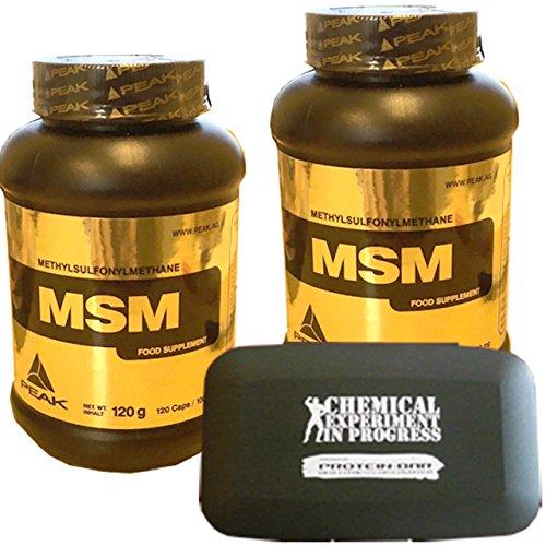 Peak MSM 2 x 120 Kapseln Vorteilsangebot mit praktischer Pillendose Sonderaktion