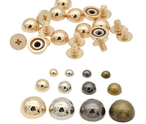 (10pcs 8/12/20mm Head Dome Mushroom Screw back Leather craft Spot Spike Tack Leathercraft Spike Screw DP090 (Gunmetal, 20mm))