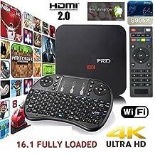MXQ PRO 4K S905X Smart TV BOX Android 6.0 - Quad Core w/ 16.1 - Includes i8 Wireless Keyboard
