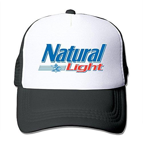 Adult Natural Light Logo Adjustable Mesh Hat Trucker Baseball Cap Black (Louis Natural Cardinals)