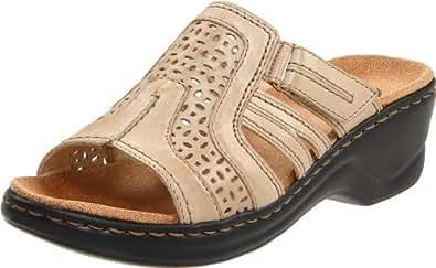 Clarks Women's Lexi Bark Slide Sandal,Sand Leather,8.5 M US