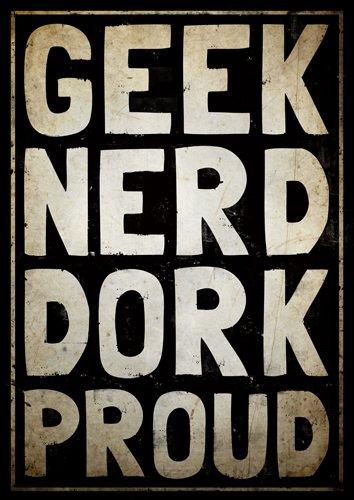 Cartel Geek, Geek chic cartel, cartel del dormitorio ...