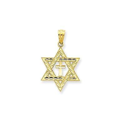Amazoncom ICE CARATS 14k Yellow Gold Jewish Jewelry Star Of David