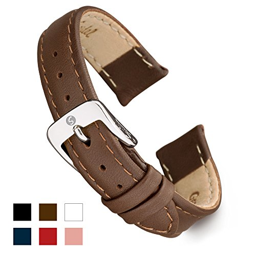 - Speidel Genuine Leather Watch Band 11mm Brown Calf Skin Replacement Strap, Stainless Steel Metal Buckle Clasp, Watchband Fits Most Watch Brands