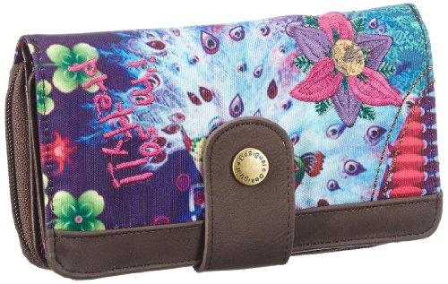 Desigual MONE_ZAPALLAROUND - Monedero de material sintético mujer, color Violeta, talla 17x10x4 cm (B x H x T)