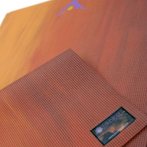 UPC 852347002083, Aurorae Printed 5mm Thick Yoga Mat with Free Non Slip Rosin