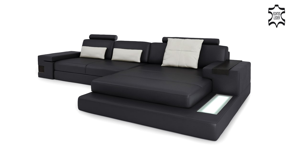 couch mit beleuchtung stunning ledersofa grau leder sofa couch uform ecksofa ledercouch. Black Bedroom Furniture Sets. Home Design Ideas