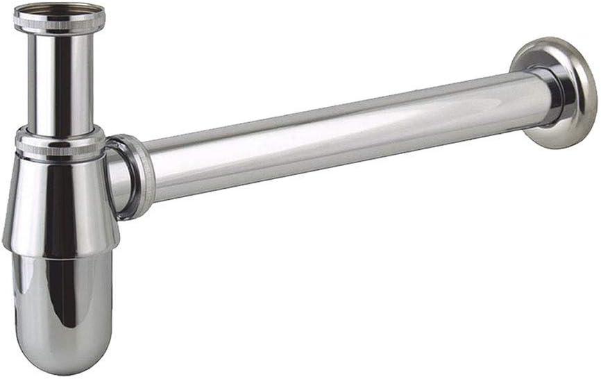 Kibath 459281 Sifón de desagüe modelo BOT para fregaderos y lavabos. Altura auto regulable máxima de 185 mm. Fabricado en latón con acabados en estilo cromo brillo. Repuestos originales, 1