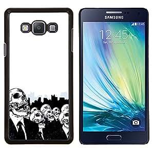 "Be-Star Único Patrón Plástico Duro Fundas Cover Cubre Hard Case Cover Para Samsung Galaxy A7 / SM-A700 ( Cráneos esqueletos Big City Vida Muerte Arte Simbólico"" )"