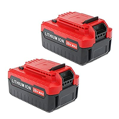 Wefix 20V MAX 4.0A Lithium Ion Battery Replacement for Porter Cable PCC685L PCC680L PCC682L PCC685LP Porter Cable 20v Battery ( 2 Pack)