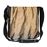 Tiger Stripes Fashion Print Diagonal Single Shoulder Bag