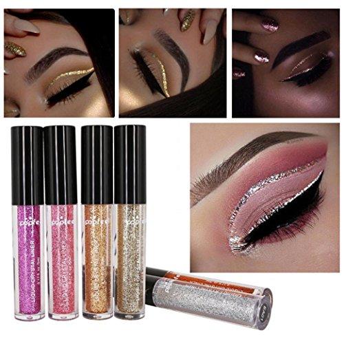 Liquid Eye Shadow Eyeliner, Staron 6 Pcs Magnificent Metals