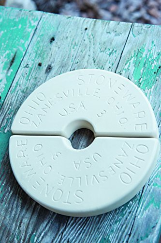 Ohio Stoneware 1 Gallon Preserving Crock Weight,Brown