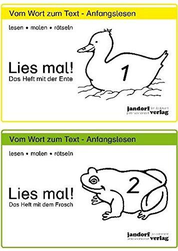 Lies mal!, Heft 1 und Hefte 2: Das Heft mit der Ente / Das Heft mit dem Frosch Broschüre – 1. Oktober 2002 Jan Debbrecht Peter Wachendorf jandorfverlag KG 3939965049