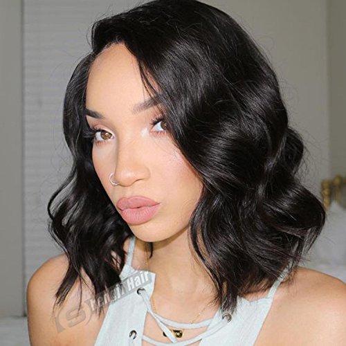 Shengji Hair 7A Human Hair Short Wigs for Black Women Bra...