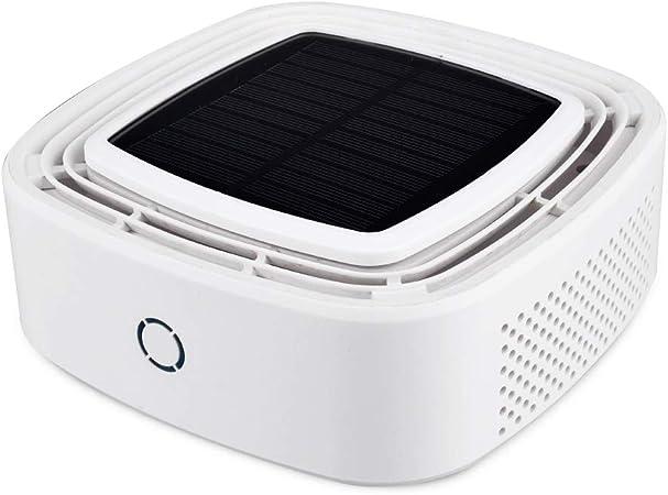 HPKJ Purificador de Aire del Coche Purificador Solar Purificador de eliminación de Iones Negativos Perfume Solar Purificador de Aire del Coche,White: Amazon.es: Hogar