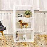 Wrought Studio Andrade Triplet 45'' Standard Bookcase, White